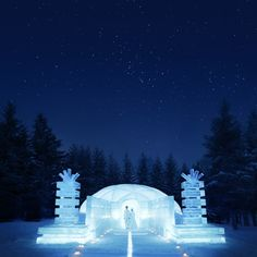 Tomamu Hokkaido Japan  Wedding at the church of the ice