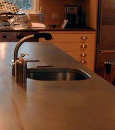 Zinc Countertop with Integral sink