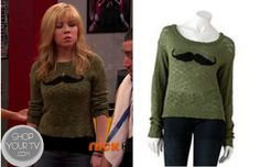 Shop Your Tv: Sam & Cat: Season 1 Episode 9 Sam's Green Moustache Sweater