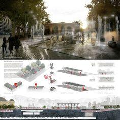 Galería - 'Encuentro de contrastes', mención honrosa del concurso de nueva Explanada de los Mercados en Santiago - 6