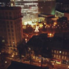 Woodruff Park as seen from the Healey at Christmastime. Photo by totesfawkward