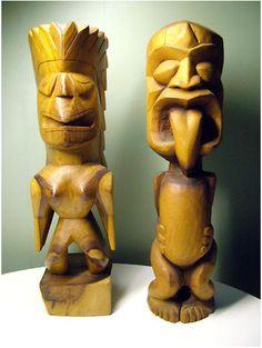 Vintage Tiki Statues – Hawaii 1960′s