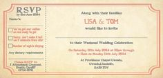TNWC Real Brides: Lisa has been getting her guests in the festival mood with quirky invitations