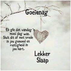 Good Morning My Friend, Evening Prayer, Good Night Blessings, Afrikaans Quotes, Good Night Quotes, Sleep Tight, Wish, Prayers, Bible