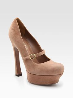 Yves Saint Laurent   Palais Suede Mary Jane Platform pumps.  I want this so bad!!!