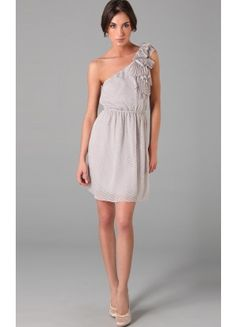 Romantic Sleeveless Chiffon Column Short One Shoulder Party Dresses