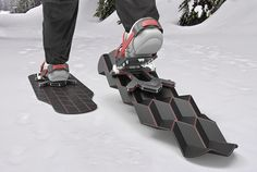Eric Brunt's Flux Snowshoes Transform With Each Step