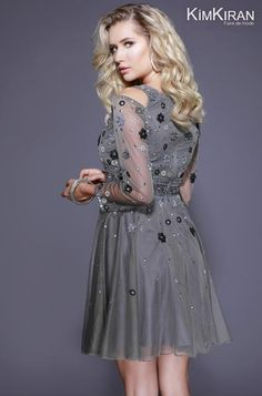 A perfect choice for all you fun and flirty girls out there who like to show your personality. This beautiful long sleeve, V-neck dress is embellished with hand beaded floral patterns and sequin designs. The diamond cut outs on the shoulders show just the right amount of skin to take it from cute to sexy. The flowy skirt helps keep true to the over fun and flirty vibe, this dress is sure to be a crowd pleaser. Model is 5'9 wearing a size 6 dress. #dressoftheday #prom #ootd #shailkusa…