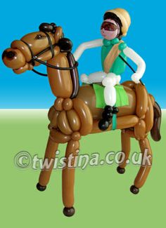 Horse & Jockey Balloon Sculpture By Twistina The Amazing Balloon Lady
