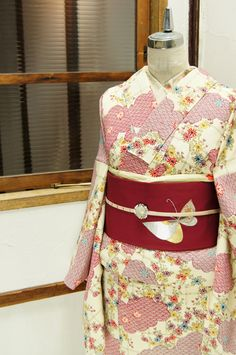 """This kimono is almost """"cottage chic"""" print."""