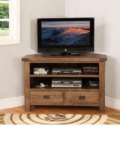 reclaimed wood corner tv stand