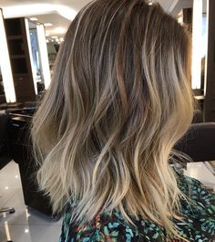 Reverse Bronde Ombre - Reverse Ombre Hair with Perfect Fades Into Browns and Blacks - The Trending Hairstyle Blonde Ombre Hair, Ombre Hair Color, Hair Color Balayage, Hair Highlights, Purple Hair, Blonde Bayalage, Brown Hair Shades, Light Brown Hair, Short Hair With Bangs