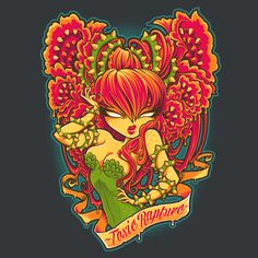 Super LikeLikes: Toxic Rapture Tshirt Print Design by Jehsee #poisonivy
