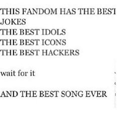 YES WE ARE FREAKING AMAZING!!