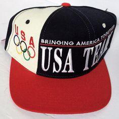 2dcb58a569c VTG Vintage 1996 Starter Olympic Games Team USA Color Block Baseball Cap  Hat NEW  Starter