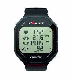 Polar RCX5 - Reloj para triatlón con pulsómetro, sumergible y compatible con GPS, sensor de zancada, de cadencia y de velocidad