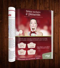 Ad Revista - Campanha de Natal - Vitali Estética