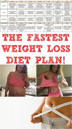 THE FASTEST WEIGHT LOSS DIET PLAN!