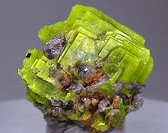 Uranocircite is a uranium mineral with the chemical formula: Ba(UO2)2(PO4)2·10H2O. It is a phosphate mineral which contains barium and is a green to yellow colour. It has a Mohs hardness of about 2. 1.6 x 1.5 cm crystal group of uranocircite with a minor amount of attached matrix. Bergen, Falkenstein,  Vogtland, Saxony, Germany