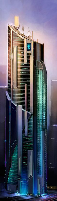 Megacorporation Bldg #FuturisticArchitecture #Architecture #modernarchitecturemodel