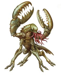 Chuul (from the D&D fifth edition Monster Manual). Art by Kate Pfeilschiefter.