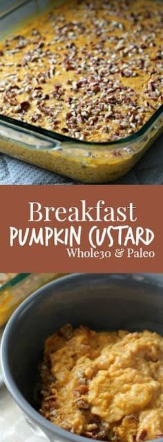 Breakfast Pumpkin Custard #whole30 and #paleo