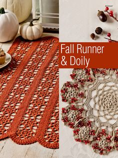 Crochet - Fall Runner & Doily - #EC01261