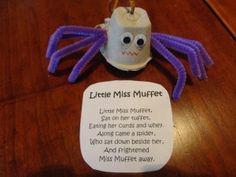 Little Miss Muffet Nursery Rhyme Craft