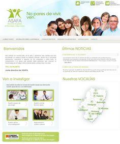 Diseño web para la Asociación Aragonesa de Fibromialgia y Fatiga crónica (ASAFA). http://www.asafa.es