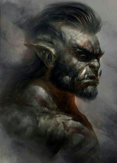 Orc Barbarian Profile - Pathfinder PFRPG DND D&D d20 fantasy