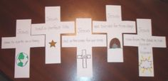 the gospel on easter sunday: a cross shapebook craft