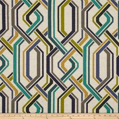 Richloom R Gallery Steadfast Blend Breeze from @fabricdotcom  Screen printed on a cotton/linen blend this medium/heavyweight fabric is very versatile and perfect for window treatments (draperies, valances, curtains, and swags), accent pillows and upholstering furniture, headboards, ottomans and poufs. Colors include grey, gold, lime, navy, teal and oatmeal.