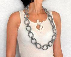 #Crochet Chain Necklace pattern