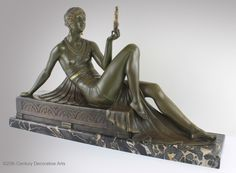 "An extremely rare Art Deco patinated silvered and gilded bronze sculpture by Joseph Emmanuel Descomps circa 1925 entitled ""Comparison"", edited by Etling -Paris."