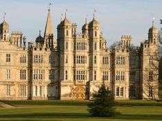 Burghley House, near Stamford, Lincolnshire, England. Burghley House in Cambridgeshire was used as Rosings Park in the 2005 adaptation of Pride & Prejudice Beautiful Castles, Beautiful Buildings, Beautiful Landscapes, Beautiful Places, Unusual Buildings, Villas, Grayson Manor, Grand Homes, England And Scotland