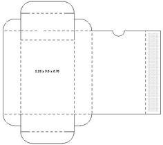 Tuck style carton box template