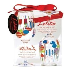 Holiday Baubles Lolita Acrylic Wine Glass Set