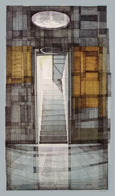 """enochliew: """" Drawings by Megan McGlynn She's an artist interested in architecture and its relationship to the neurological phenomena of memory. """""""