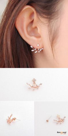US$6.59+Free shipping. Material: 925 Silver(Needle), Alloy(Parts except needle), Zircon. Color: Silver, Rose Gold. Love vintage and sweet style! Women's Jewelry, Women's Earrings, Women's Fashion, Christmas Accessories.