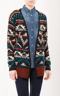 Aztec sweater Cardigan  Multicolor