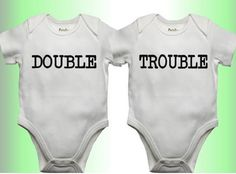 Cuteness times two ... fun onesies for twins! Pin if you've got a baby shower in your future