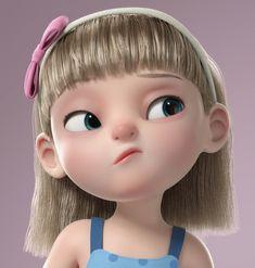 Little Girl Cartoon, Cute Bunny Cartoon, Cartoon Girl Images, Cute Cartoon Drawings, Cute Cartoon Pictures, Cartoon Profile Pictures, 3d Cartoon, Cartoon Faces, Cartoon Girls