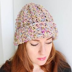 Easy knitting pattern: 2-Hour Butterfly Beanie