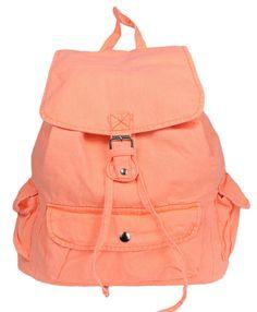 Orange NEON Backpack, Canvas Backpack, Laptop Bag, Luggage Bag, Leisure Bag, School Backpack #orangebag #vintagerucskack