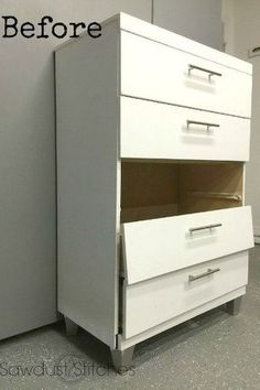 s 7 shocking things you can do with old unwanted pieces, A Broken Dresser Transforms Into