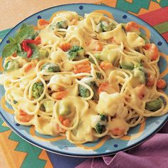 Pasta Primavera With Creamy Cauliflower Sauce