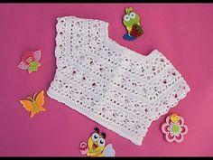 Crochet best yokes from Majovel Crochet English. In recent weeks I have brought a series of canesus to the channel. Débardeurs Au Crochet, Crochet Bolero, Crochet Waffle Stitch, Crochet Baby Cardigan, Baby Girl Crochet, Crochet Baby Clothes, Crochet Woman, Crochet For Kids, Crochet Hats