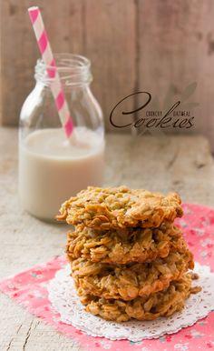 Galletas Avena. Unas rápidas y exquisitas galletas, muy saludables e ideales para preparar con tus hijos.