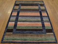 4' x 6' Handmade Bamboo Silk Multicolored Lori Buft Gabbeh Oriental Rug   Another unique design and beautiful rug