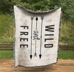 Wild and Free Blanket all Cotton Woven Wall Hanging or | Etsy
